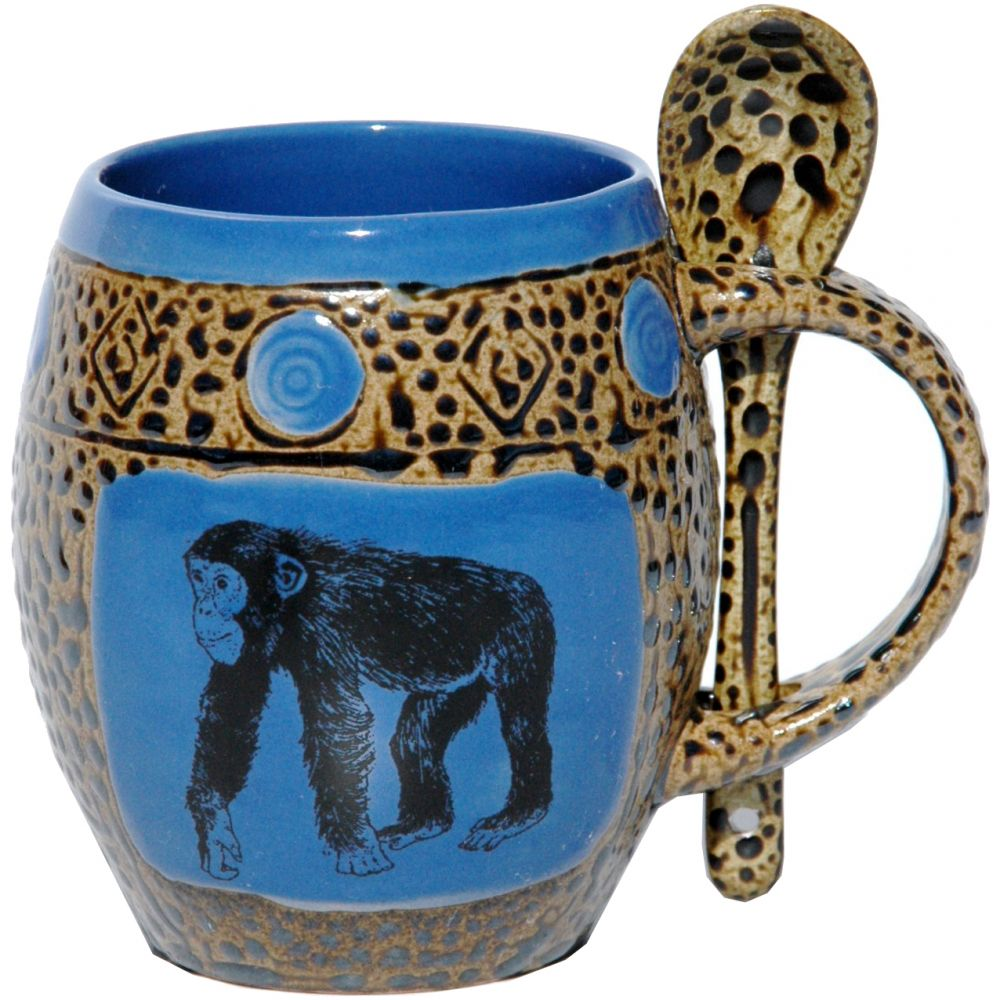 Chimp Blue Mug