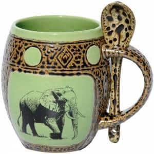Elephant Green Mug
