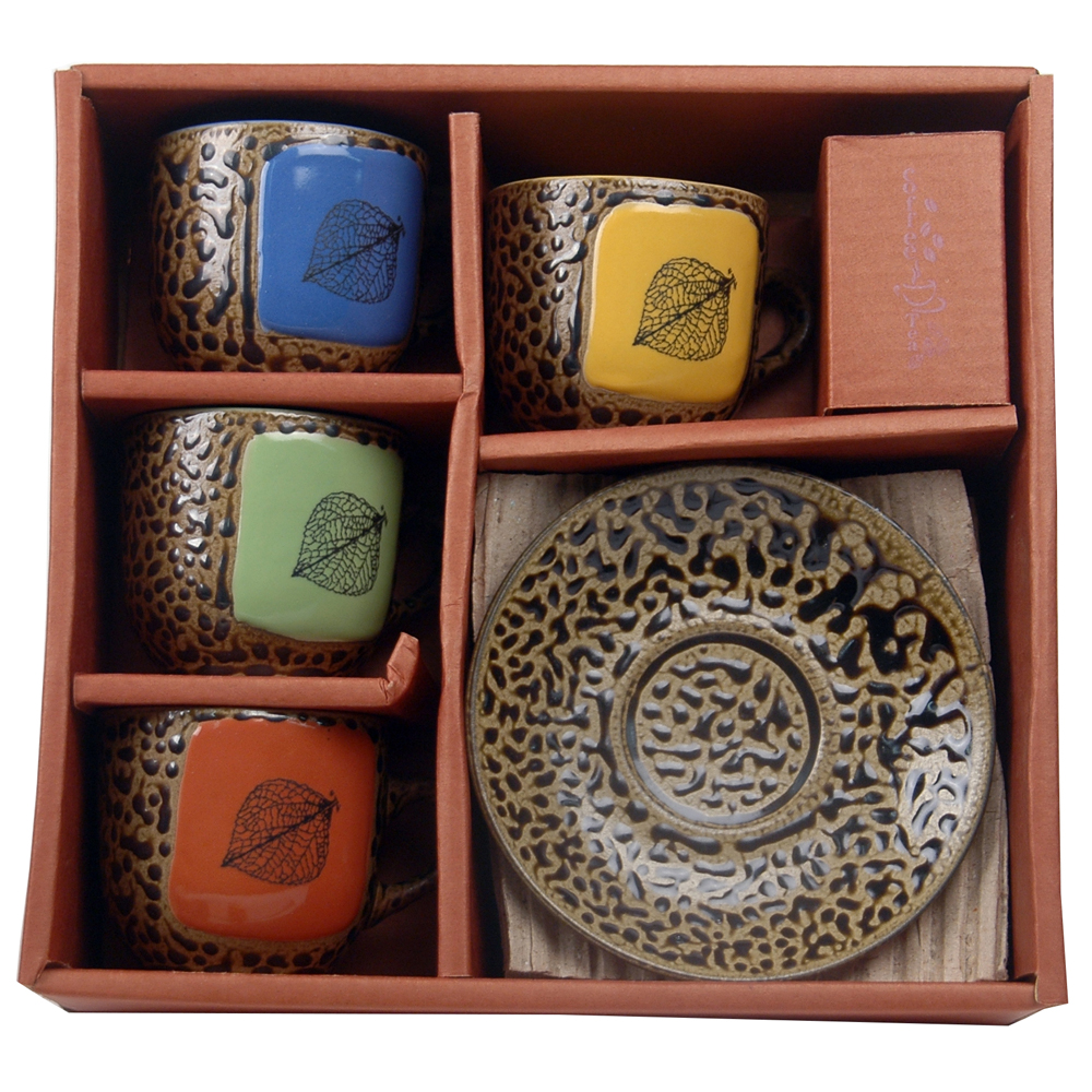 Aspen Leaf Espresso Box Set