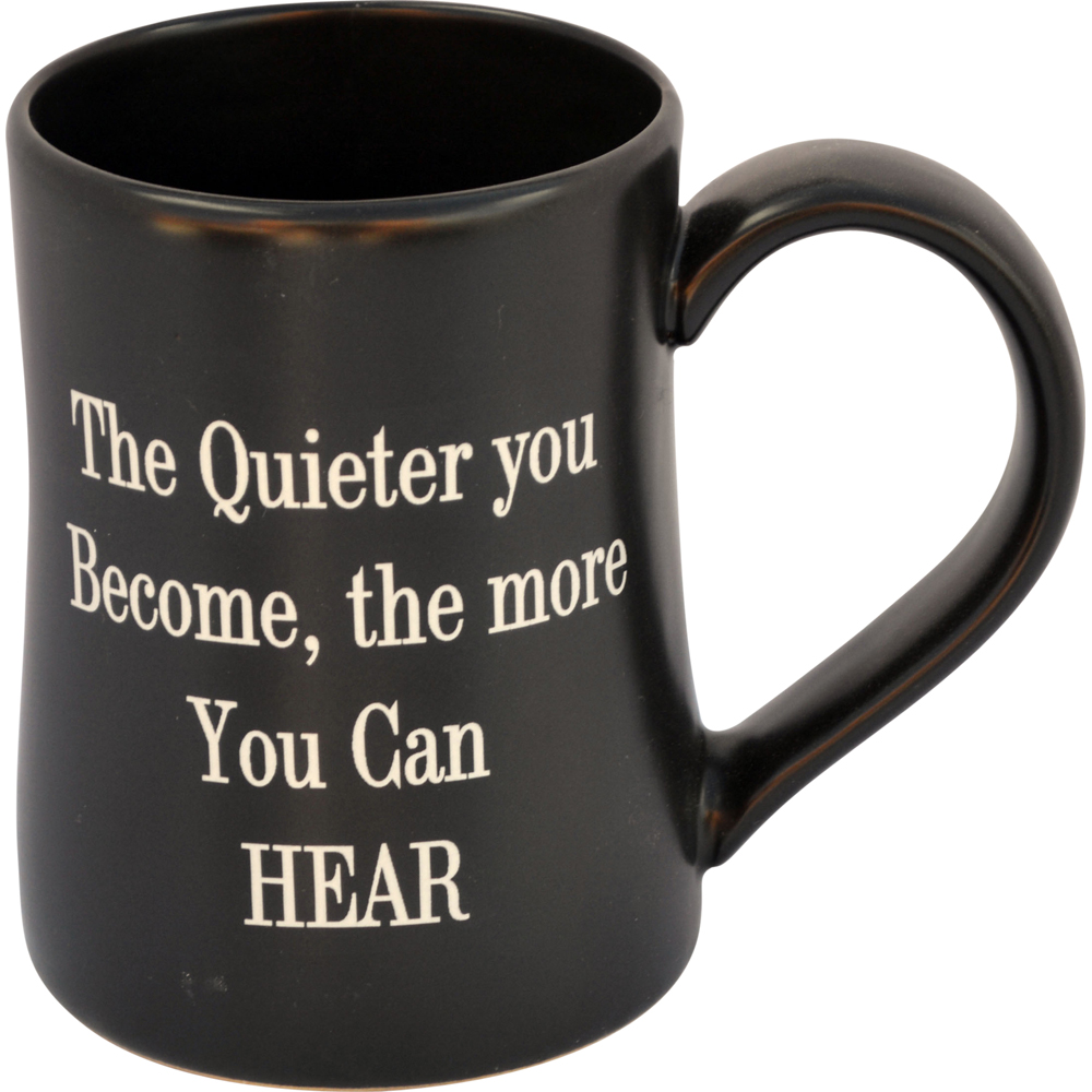 The Quieter You Are 17 Oz. Tankard – Always Azul Pottery