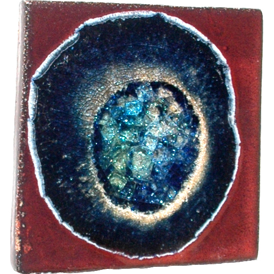 A Non Pattern Glazed Fused Glass Coaster Always Azul Pottery